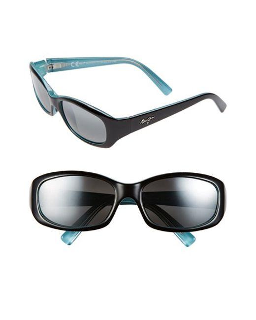 Maui Jim | Black 'punchbowl - Polarizedplus2' 54mm Rectangular Sunglasses | Lyst