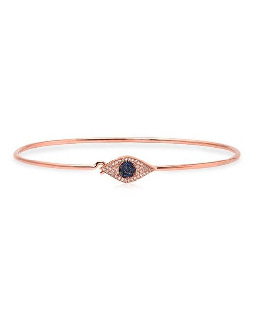 Anne Sisteron - Metallic 14kt Rose Gold Sapphire And Diamond Evil Eye Latch Bracelet - Lyst