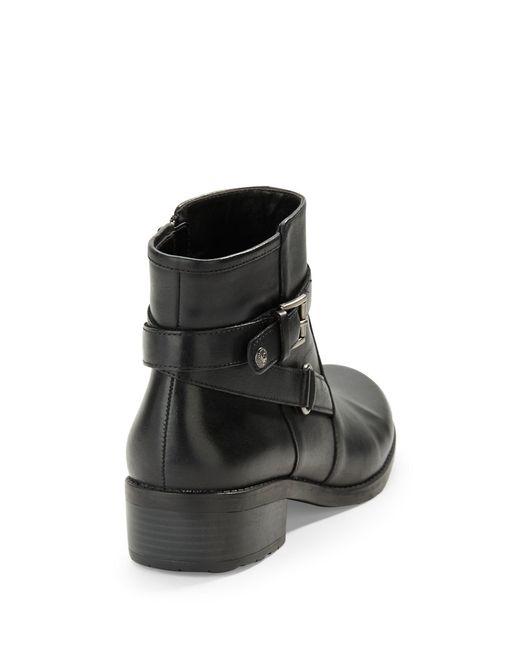 Anne Klein | Black Lynzee Buckle Ankle Boots | Lyst