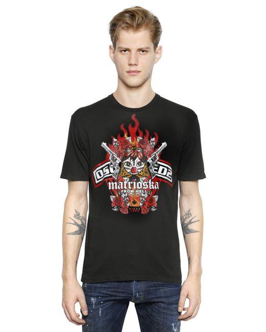 DSquared² | Black Matrioska Print T-shirt for Men | Lyst