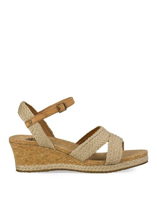 ugg luann espadrille wedge slingback sandals in brown