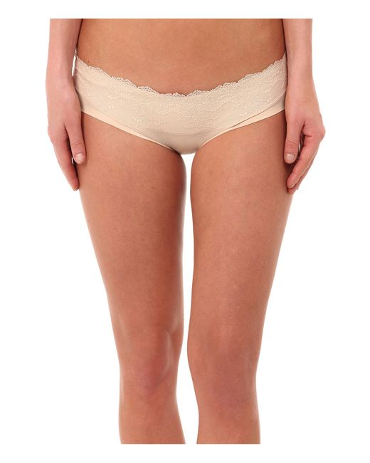 Spanx | Natural Lace Waist Hipster | Lyst
