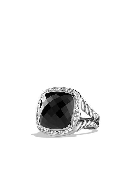 David Yurman | Albion Ring With Black Onyx And Diamonds, 14mm | Lyst