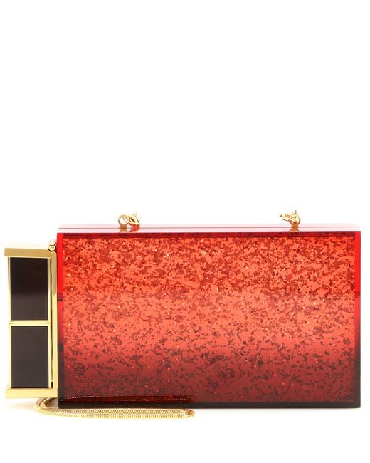 Tom Ford | Lipstick Glittered Plexiglass Box Clutch | Lyst