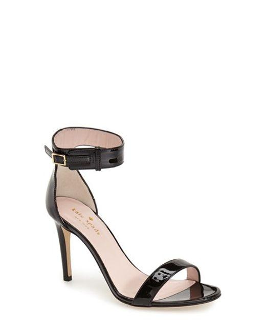 Kate Spade | Black 'isa' Ankle Strap Sandal | Lyst