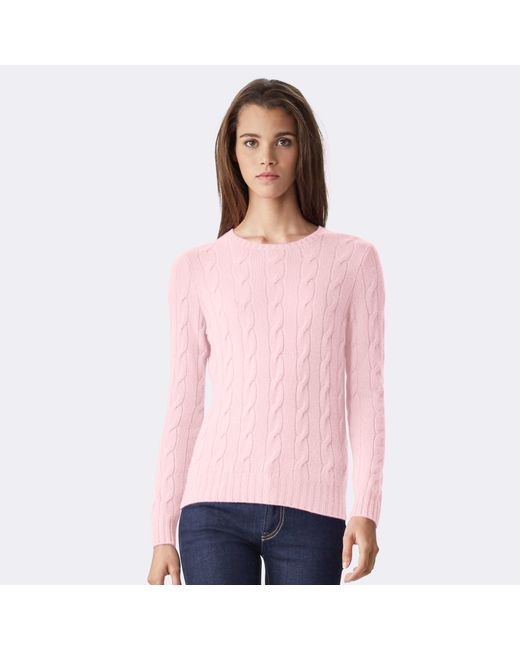 Pink Pony | Pink Cable-knit Cashmere Sweater | Lyst