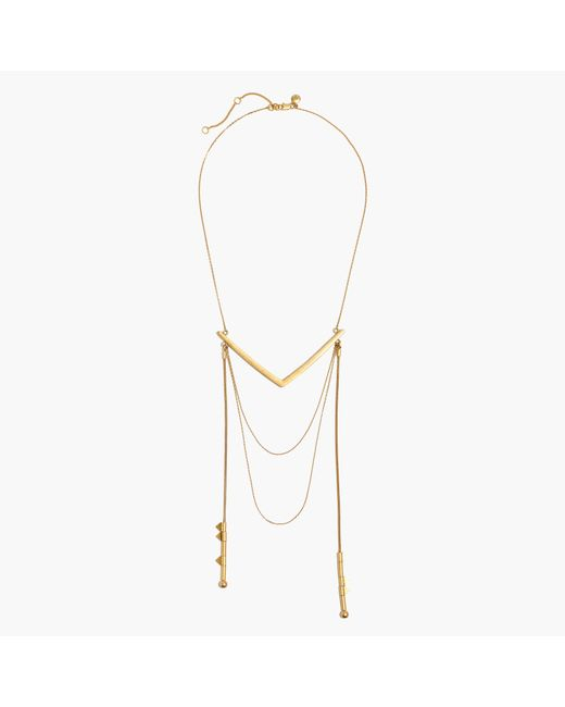 Madewell | Metallic Corner Layering Necklace | Lyst