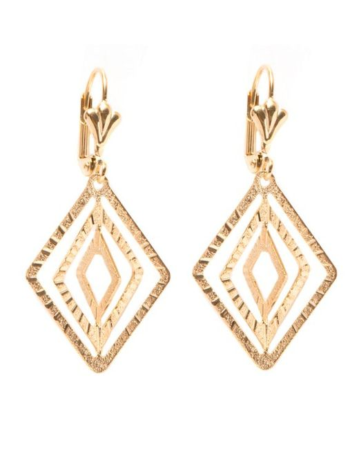 Peermont Gold Diamond drop Earrings in Metallic