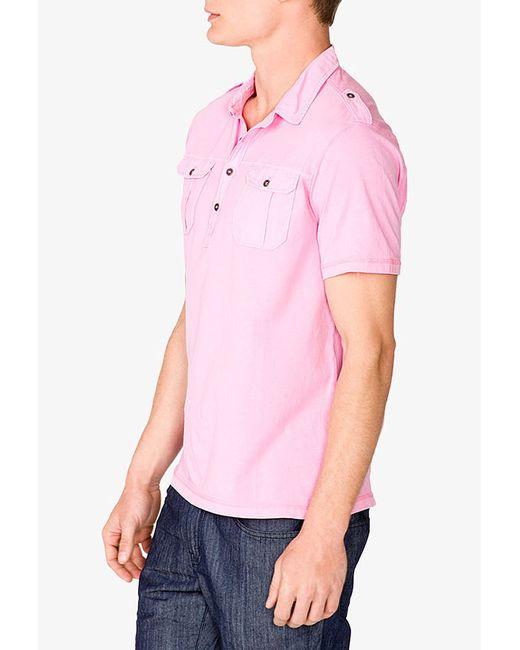 Forever 21 | Pink Short Sleeve Military Shirt for Men | Lyst
