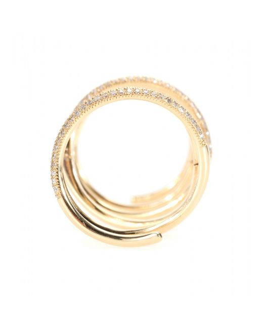 Stone Paris | Metallic Bliss Articulated 18kt Gold Ring With Diamonds | Lyst