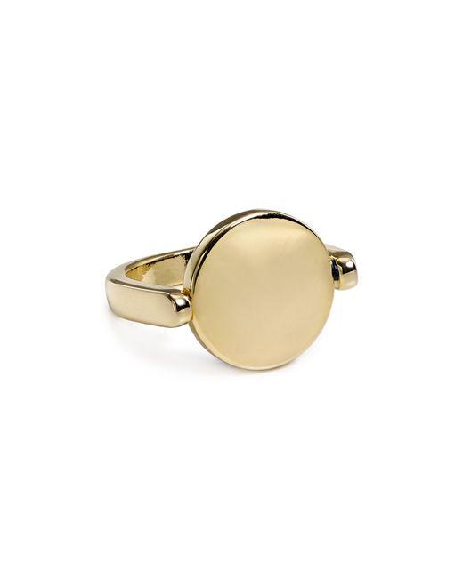 Aqua | Metallic Lori Circle Ring | Lyst
