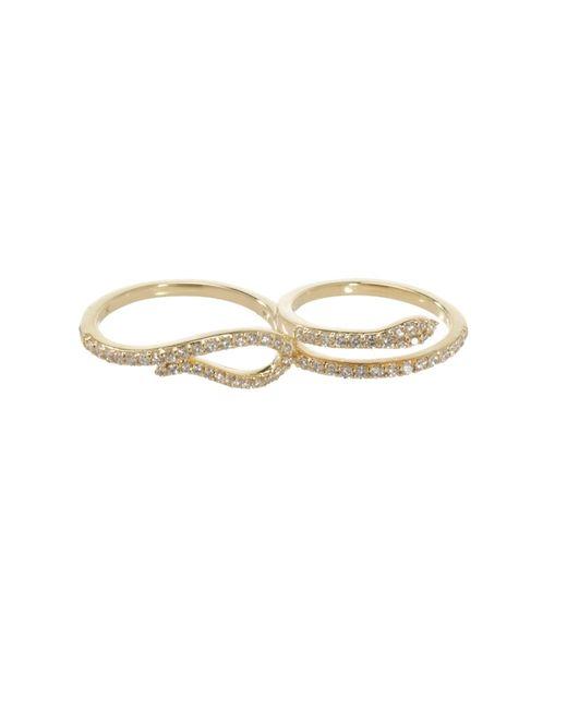 Khai Khai   Metallic Two Finger Serpent Ring   Lyst