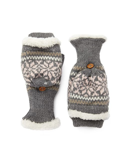 Forever 21 | Gray Fair Isle Convertible Gloves | Lyst
