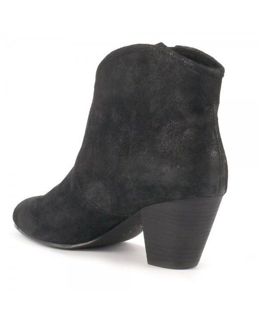 Ash | Black Jess Suede Ankle Boots | Lyst