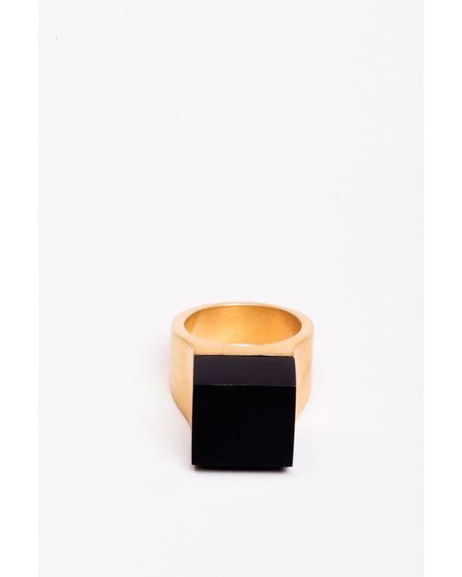 Ming Yu Wang | Metallic Vector Ring Onyx | Lyst