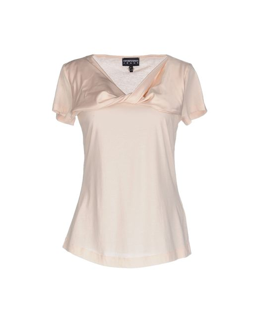 emporio armani t shirt in pink save 55 lyst. Black Bedroom Furniture Sets. Home Design Ideas