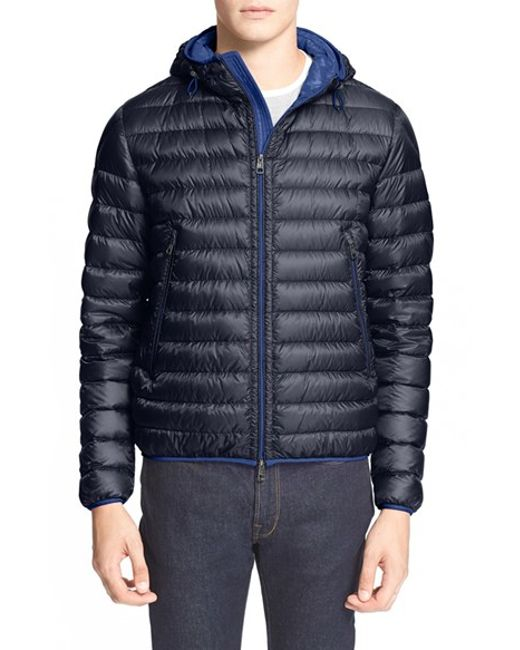 Moncler Mir Hooded Quilted Down Jacket In Blue For Men 776 Navy Blue Lyst