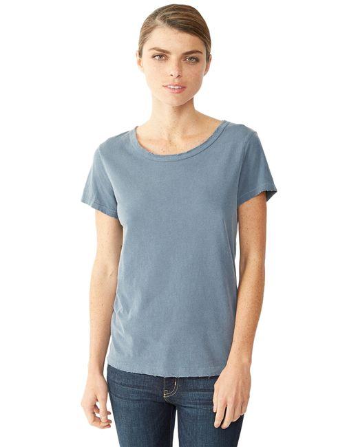 Alternative Apparel   Blue Rocker Garment Dyed Distressed T-shirt for Men   Lyst