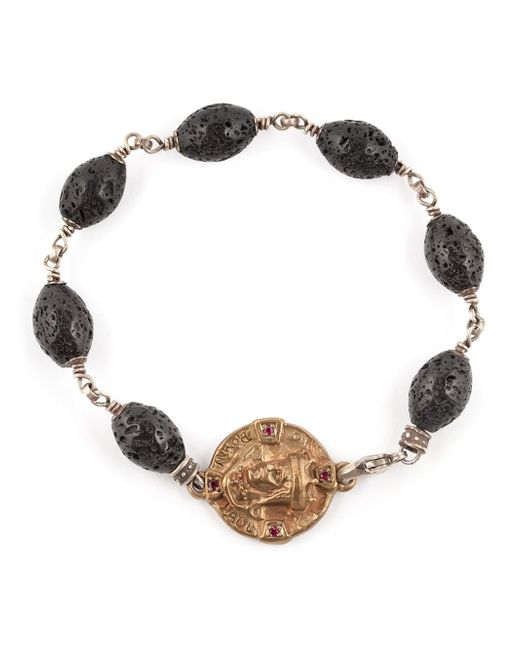 Roman Paul | Black Lava Beaded Bracelet for Men | Lyst