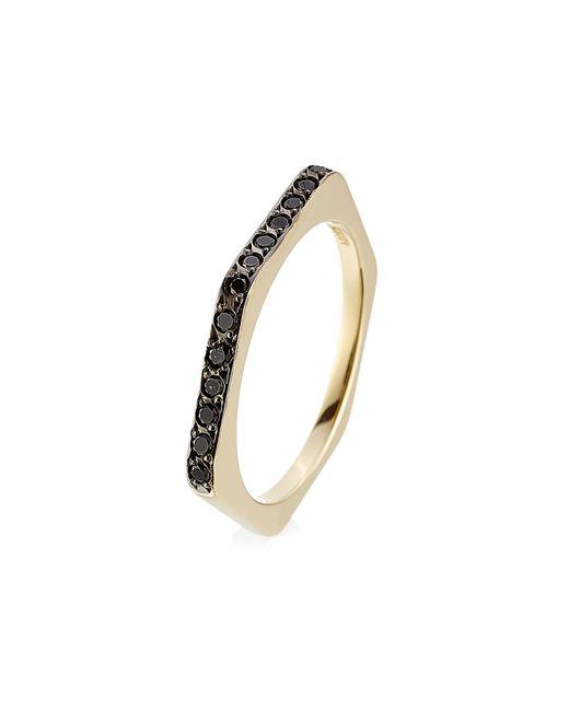 Ileana Makri | 18kt Yellow Gold Ring With Black Diamonds | Lyst
