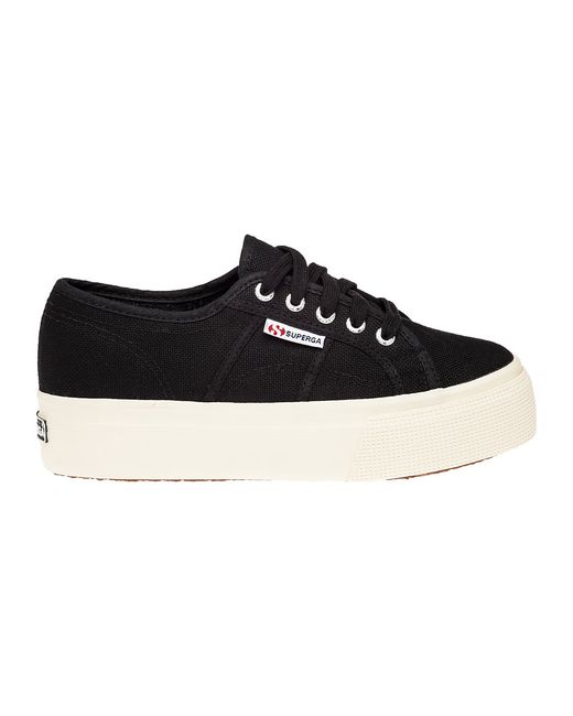Superga 2790 Platform Sneaker Black Canvas In Black Lyst