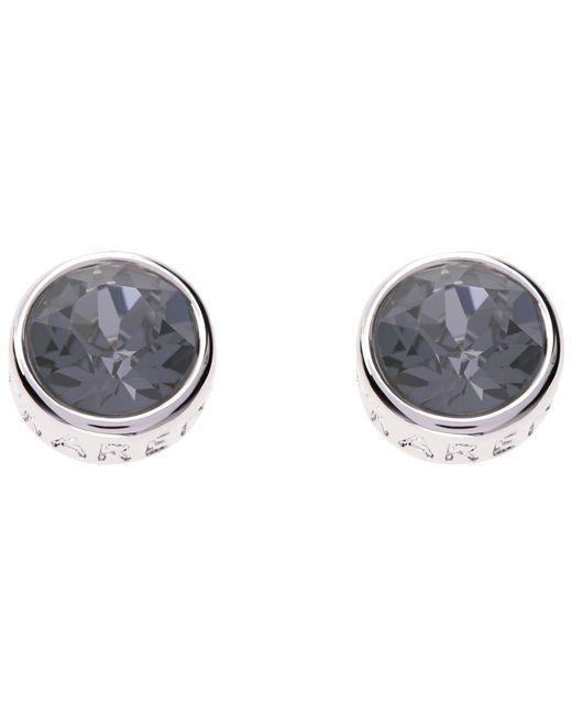 Karen Millen   Metallic Logo Stud Earrings   Lyst