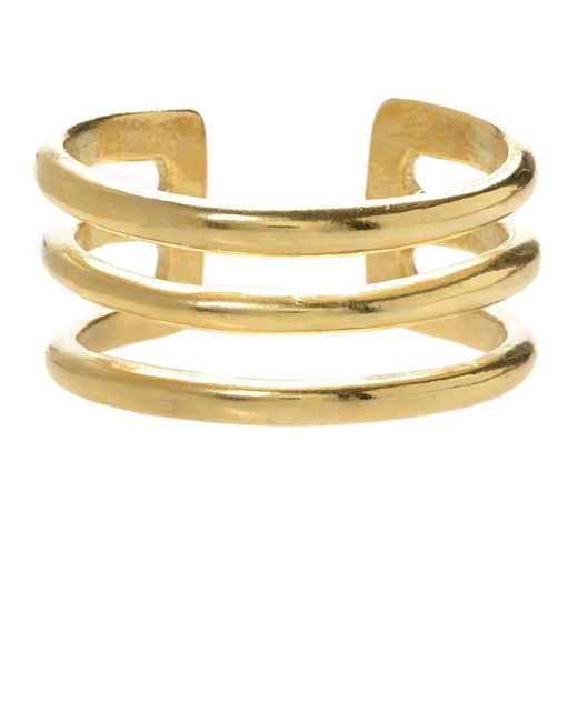 Jill Golden | Yellow Triple Band Cuff | Lyst