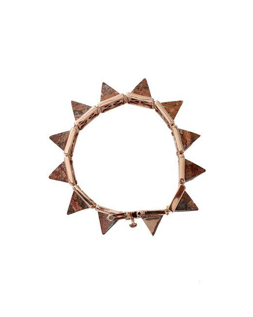 Eddie Borgo | Red Gemstone Pyramid Bracelet | Lyst