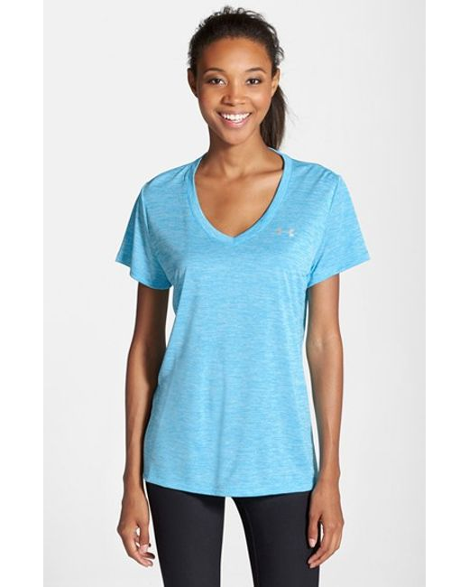 Under Armour | Blue 'twisted Tech' Tee | Lyst