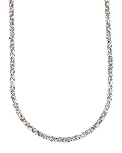 Anne Klein | Metallic Silvertone Crystallized Tubular Necklace | Lyst