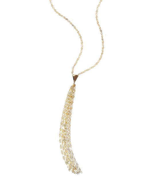 Lana Jewelry | Metallic 14k Long Blake Tassel Necklace | Lyst