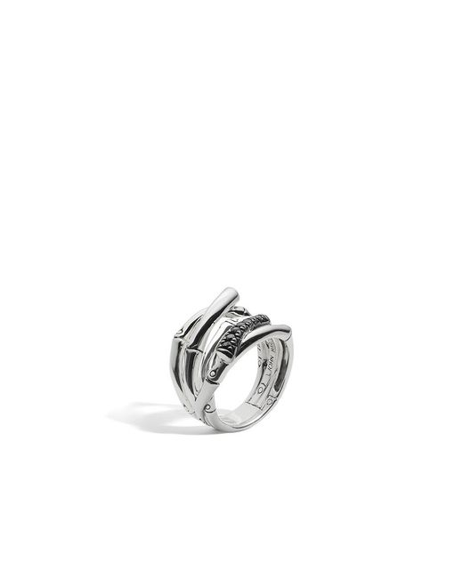 John Hardy   Bamboo Ring With Black Sapphire   Lyst