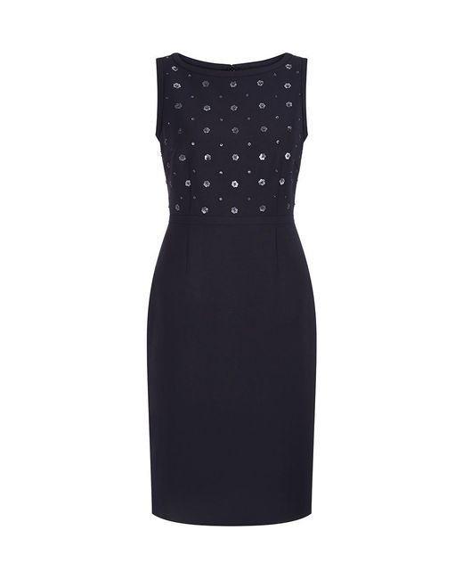 Hobbs | Blue June Beaded Dress | Lyst