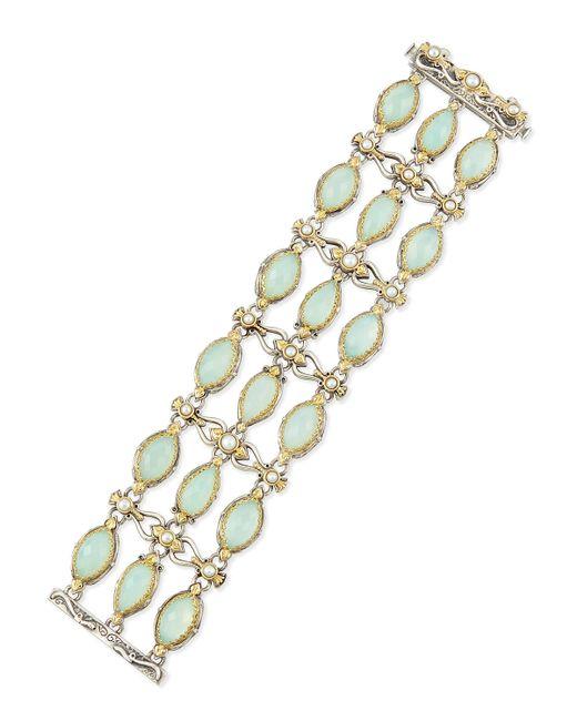 Konstantino   Sea Blue Agate & Pearl Bracelet   Lyst
