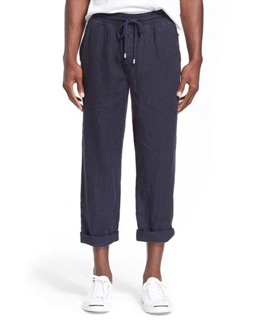 Vilebrequin | Blue 'pacha' Linen Pants for Men | Lyst