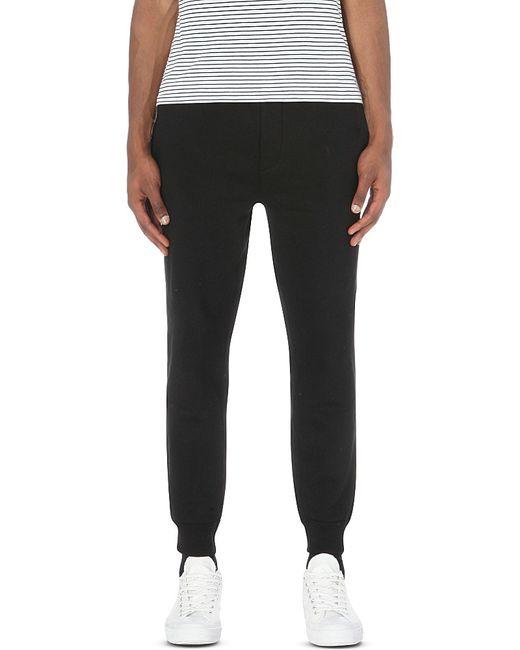 polo ralph lauren logo cuffed cotton blend jogging bottoms. Black Bedroom Furniture Sets. Home Design Ideas