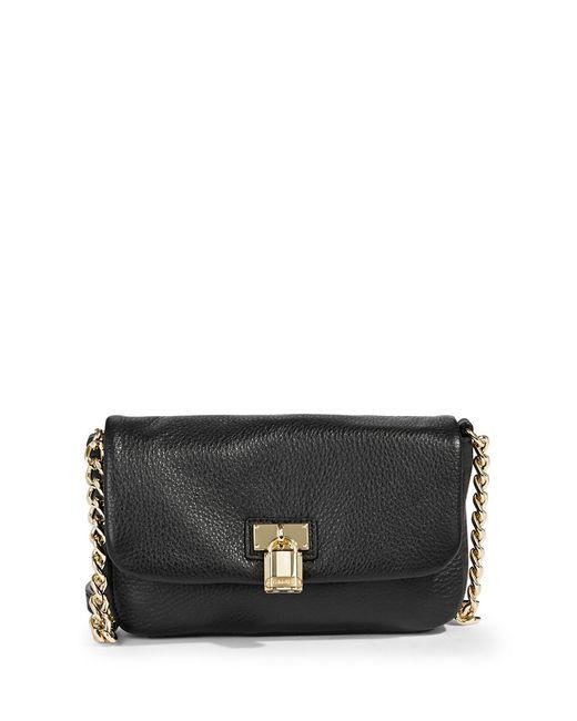Calvin Klein | Black Leather Crossbody Padlock Bag | Lyst