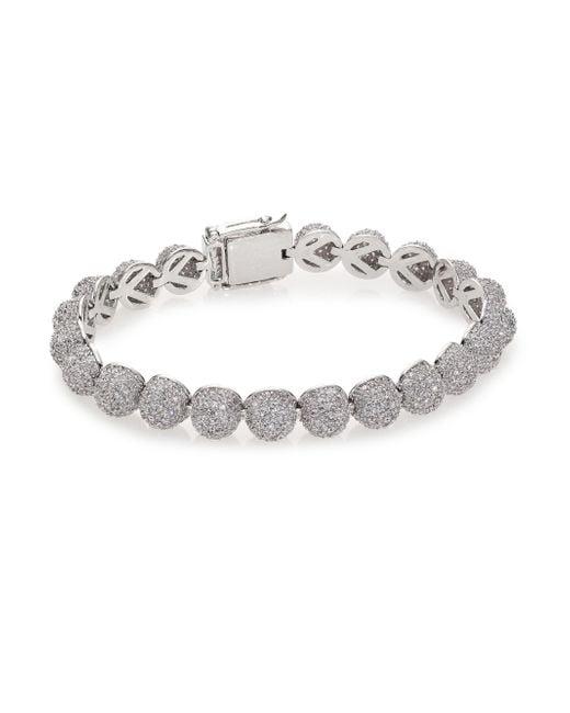 Eddie Borgo | Metallic Pave Crystal Medium Dome Bracelet | Lyst
