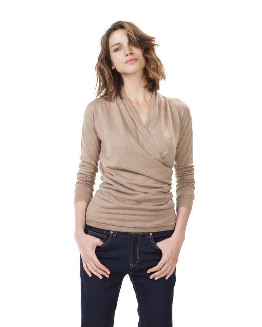 Baukjen   Natural Callington Wrap Sweater   Lyst