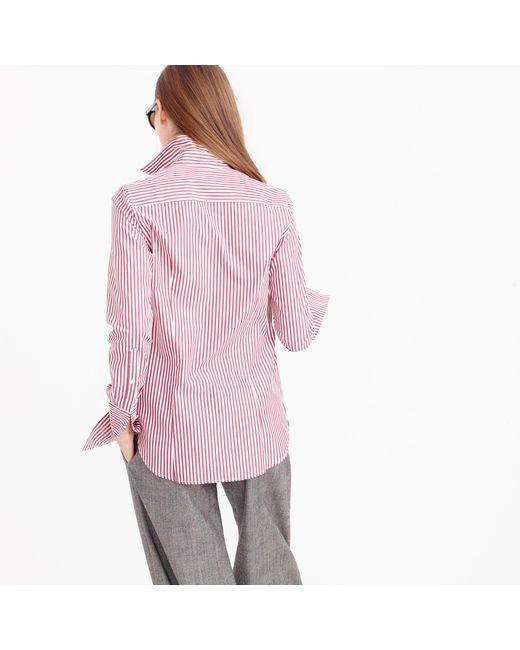 J.Crew | Purple Thomas Mason Striped Boy Shirt | Lyst