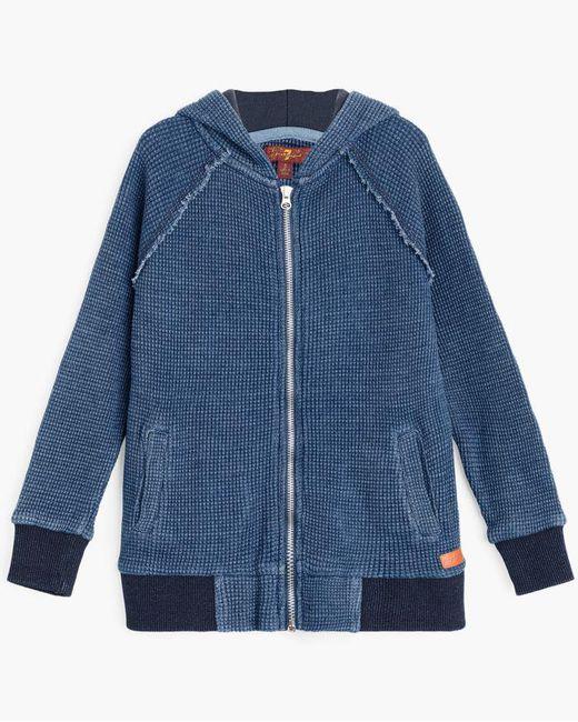 7 For All Mankind - Blue Boy's 4-7 Hoodie In Medium Indigo for Men - Lyst