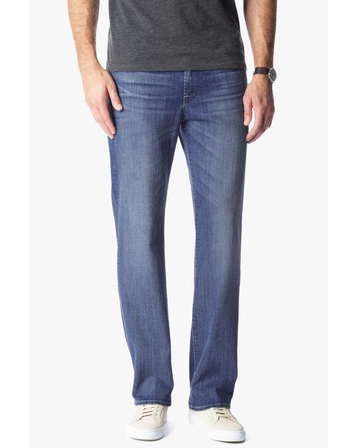 7 For All Mankind | Blue Slimmy Straight-leg Jeans for Men | Lyst