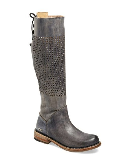 Bed Stu | Black 'cambridge' Knee High Leather Boot | Lyst