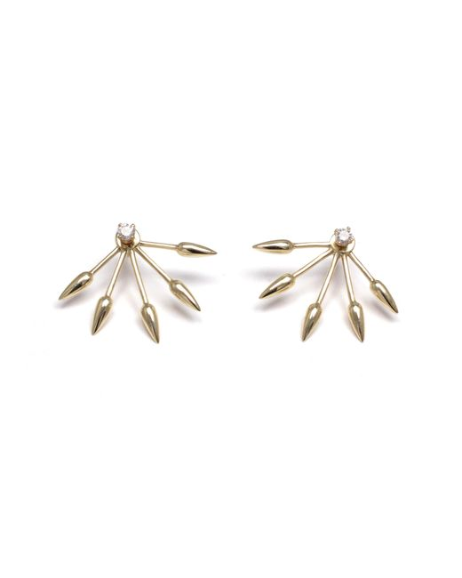 Pamela Love | Metallic Diamond 5 Spike Earrings | Lyst