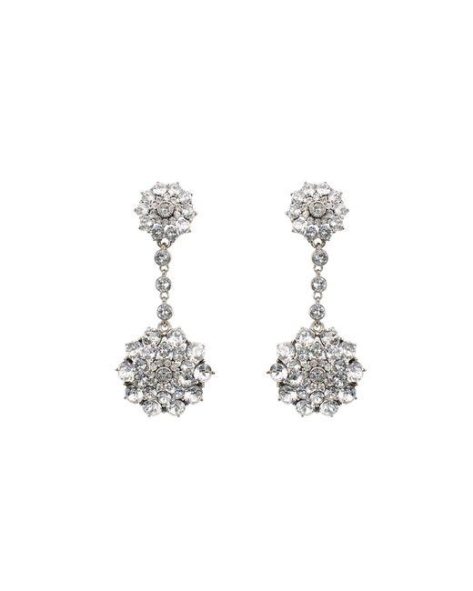 Oscar de la Renta | Metallic Jeweled Drop Earrings | Lyst