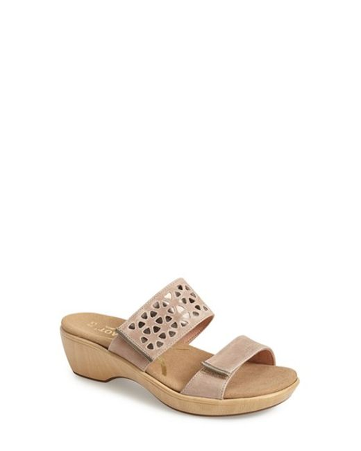 Naot | Natural 'moreto' Wedge Sandal | Lyst