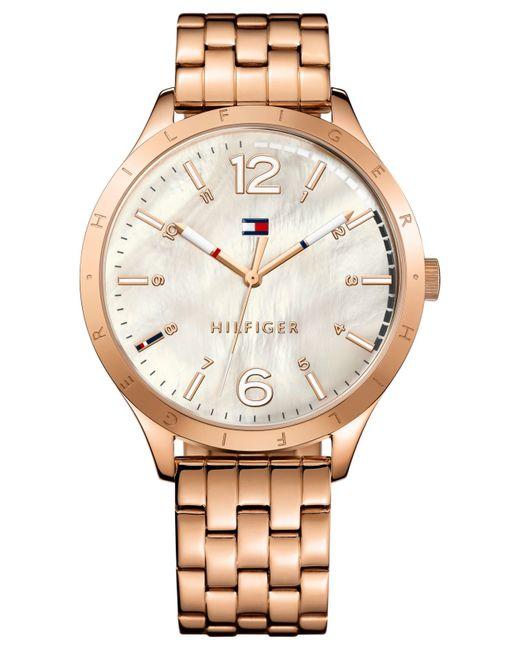 tommy hilfiger women 39 s rose gold tone stainless steel bracelet watch 40mm 1781548 in pink rose. Black Bedroom Furniture Sets. Home Design Ideas