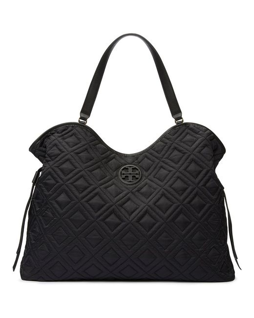Tory Burch Marion Quilted Slouchy Baby Bag In Black Lyst