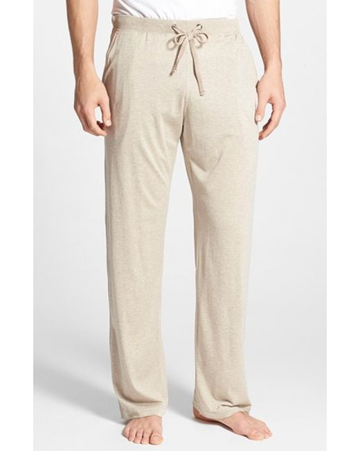 Daniel Buchler Silk Amp Cotton Lounge Pants In Brown For Men
