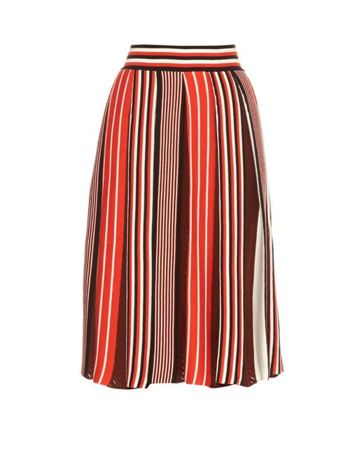 msgm pleated knit skirt in multi save 51 lyst
